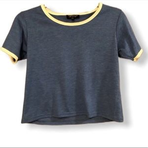 Top Shop cropped ringer tee